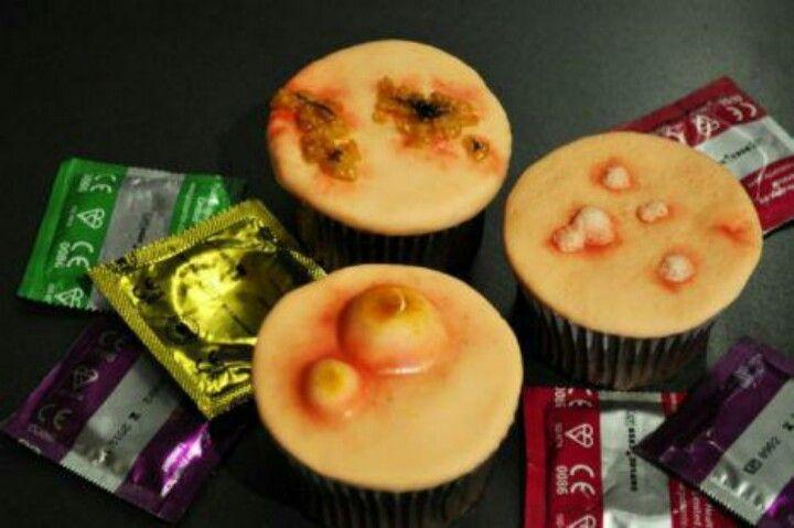 STD themed cupcakes...