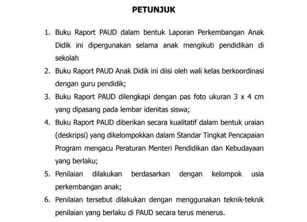 Free Download Format Raport Paud Tk Kober Ra Kurikulum 2013 Pdf Kurikulum Kelas Tk Sekolah