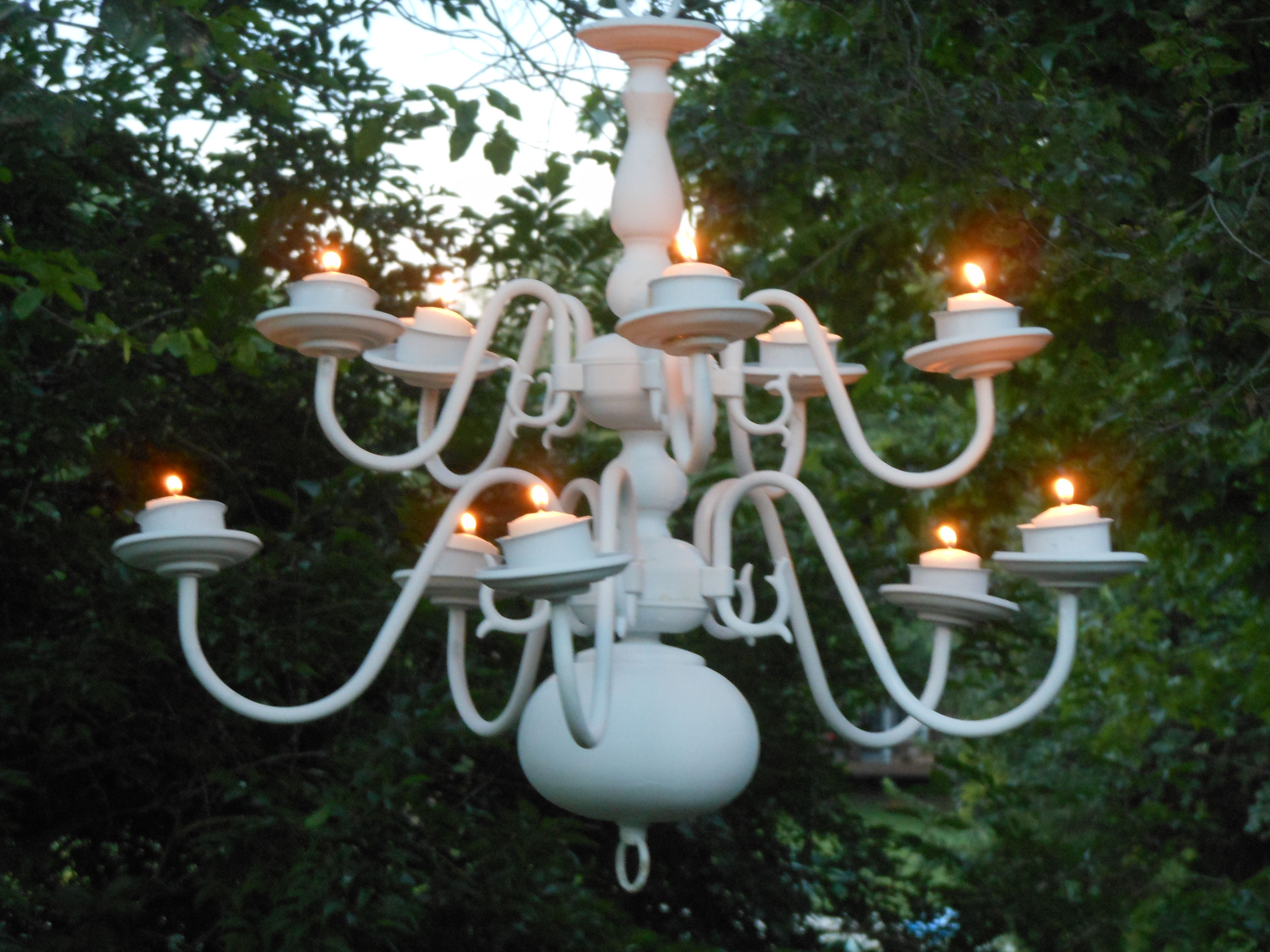 Repurposed Chandelier Recycled Projects Chandelier Outdoor Projects
