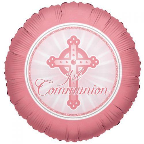 Pink Communion Standard Foil Balloon Http://www.wfdenny.co