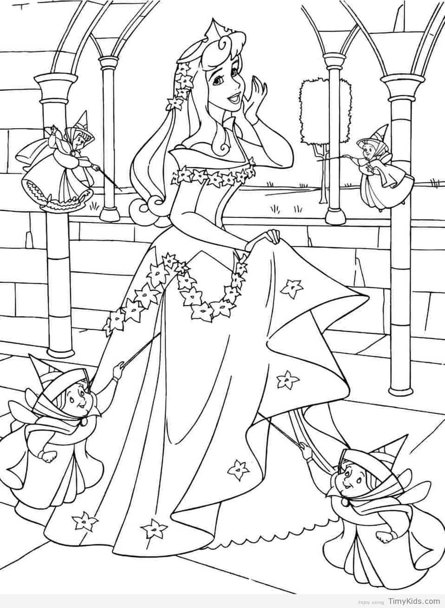 Sleeping Beauty Colouring Pages Fairy Coloring Pages Sleeping