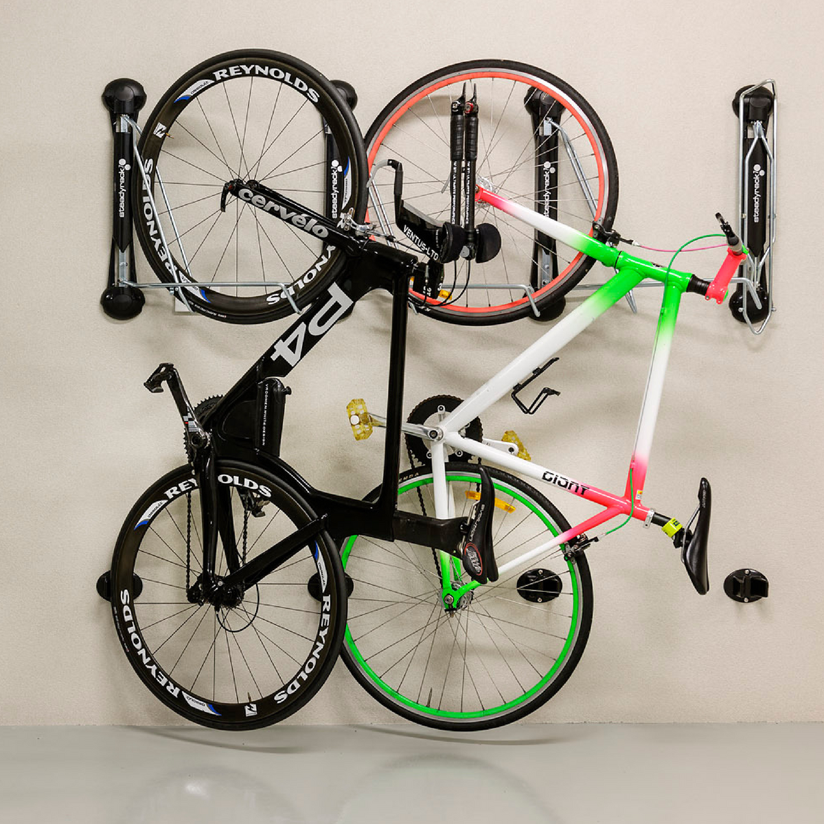Fit Multiple Bikes In Small Spaces With Our Steadyrack Classic Rack Vertical Bike Rack Indoor Bike Storage Wall Mount Bike Rack
