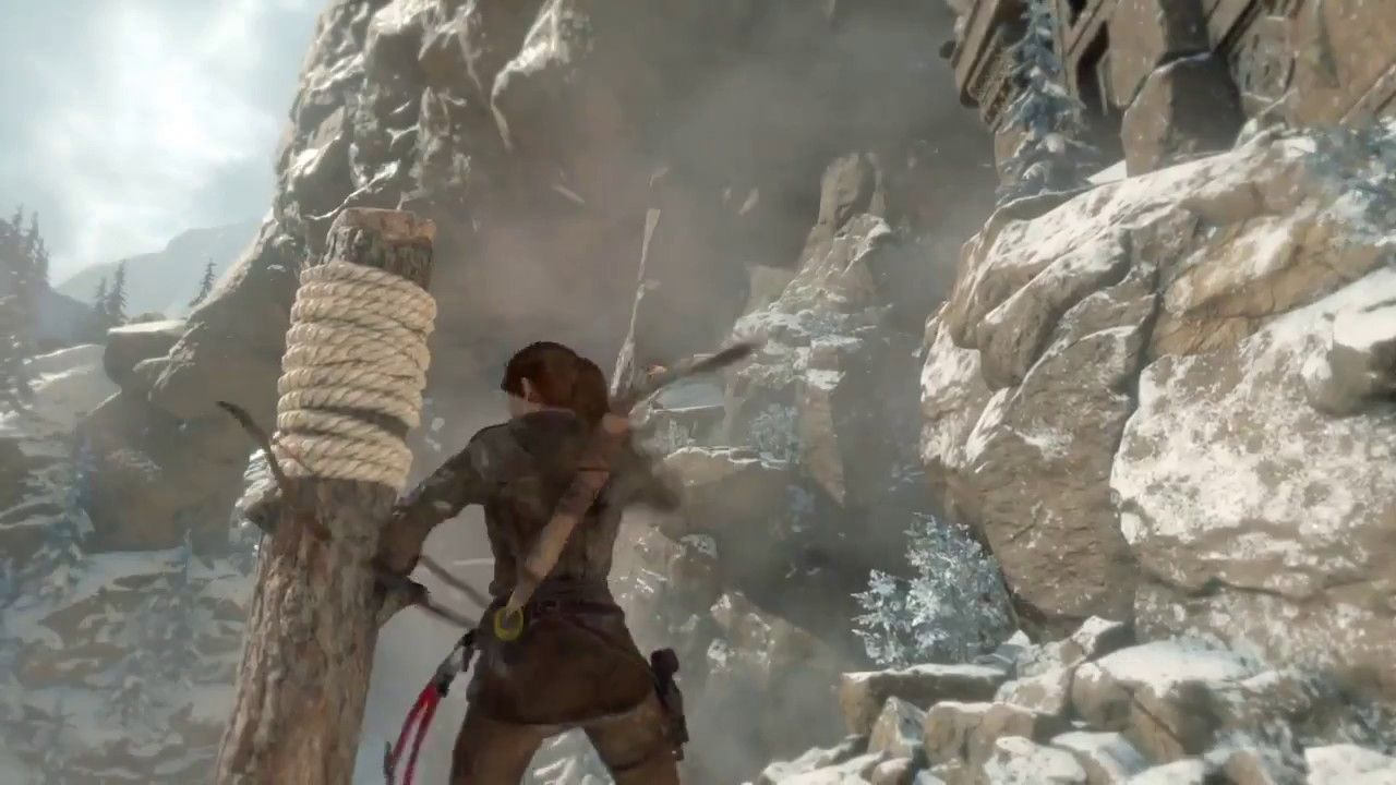 Rise Of The Tomb Raider Chasing Grandpa Ps4 Gameplay Rise Of The