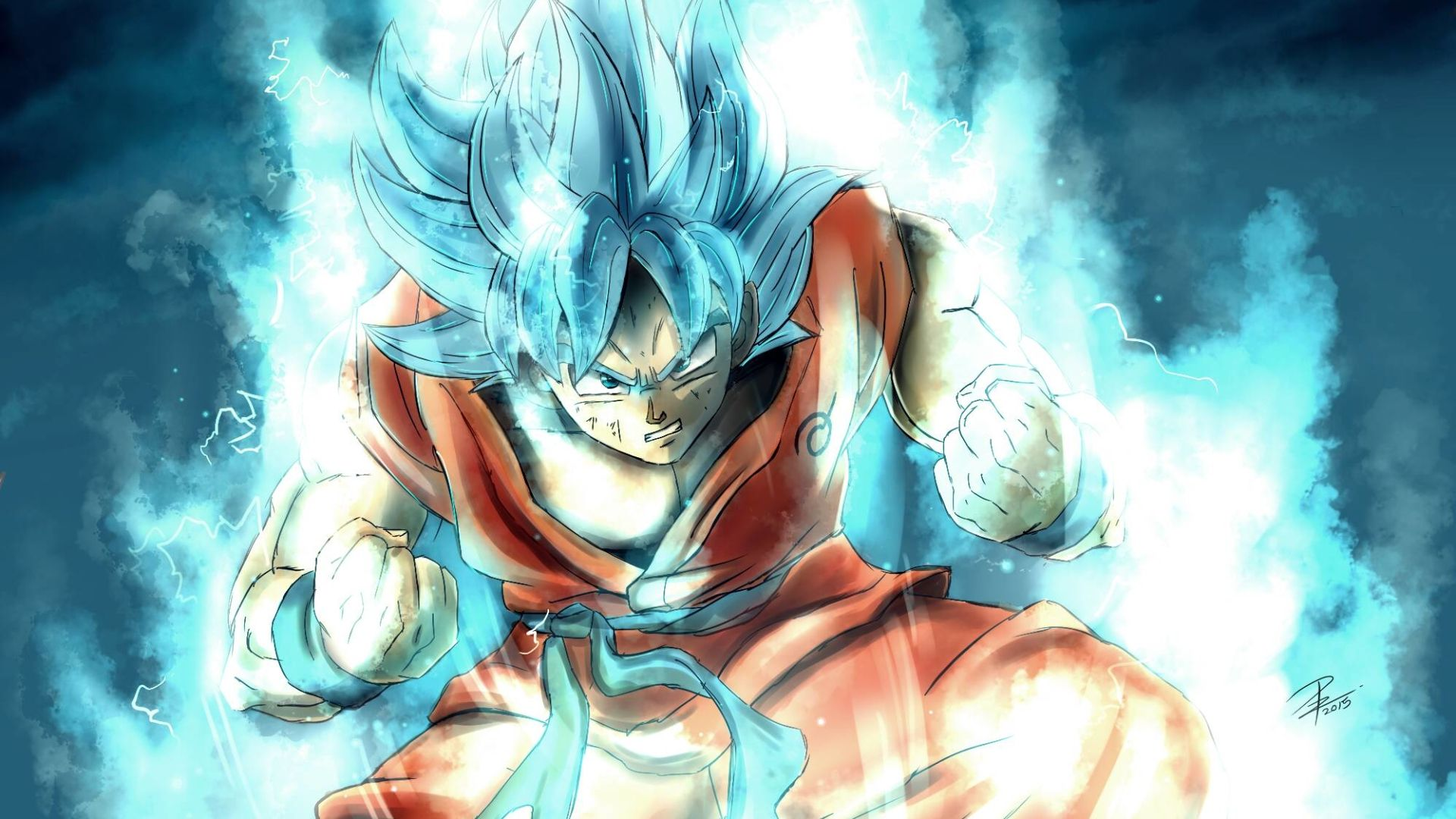 Wallpaper Dragon Ball Super Goku Saiyan God