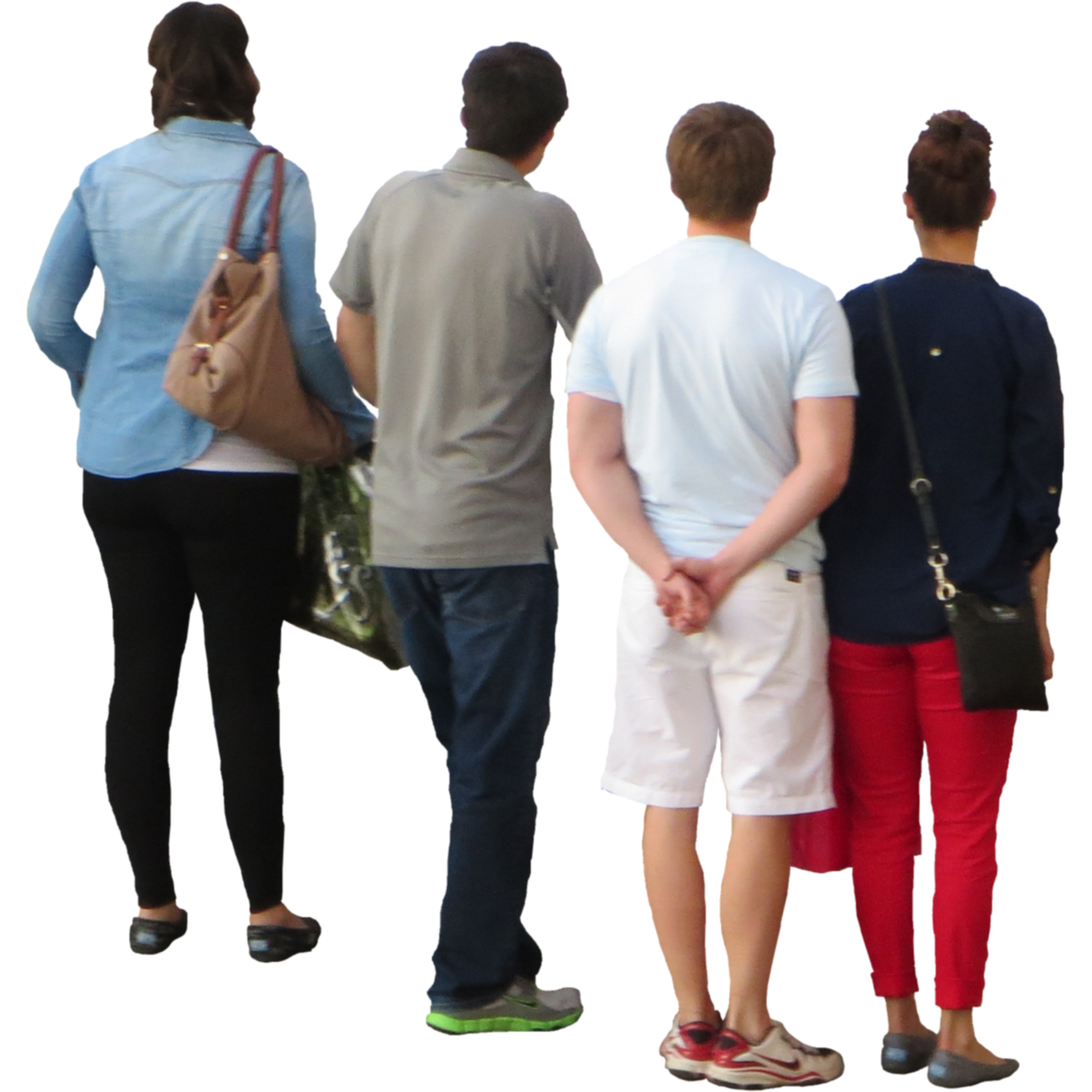 Group Of Four Looking Over Bridge Download Number 3221 Daily Updated Free Icons And Png Images For Your Projects A Drawing People People Png People Cutout