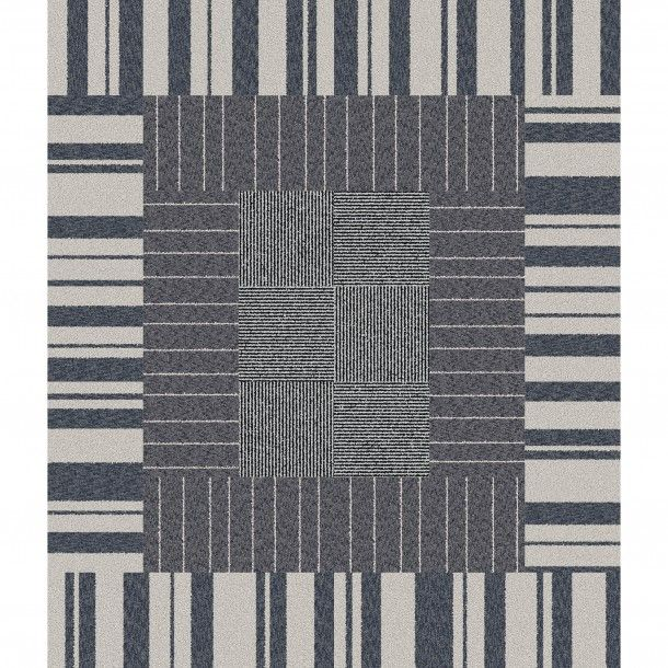 This area rug features squares that consist of