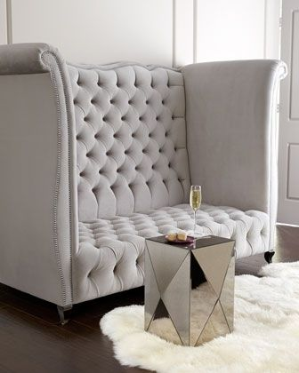 High Back Tufted Sofa Foter With Images Luxury Sofa Design