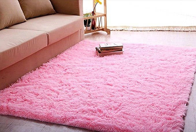 ACTCUT Super Soft Modern Shag Area Silky Smooth Kids Room Rugs ...