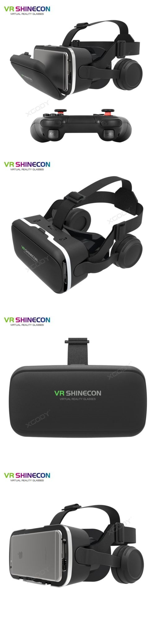 45633dd2ba57 3D TV Glasses and Accessories  3D Vr Shinecon 6Th Virtual Reality Glasses  With Earphone Bluetooth