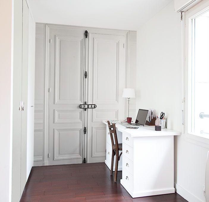 papier peint trompe l 39 oeil double porte gounod products i love. Black Bedroom Furniture Sets. Home Design Ideas