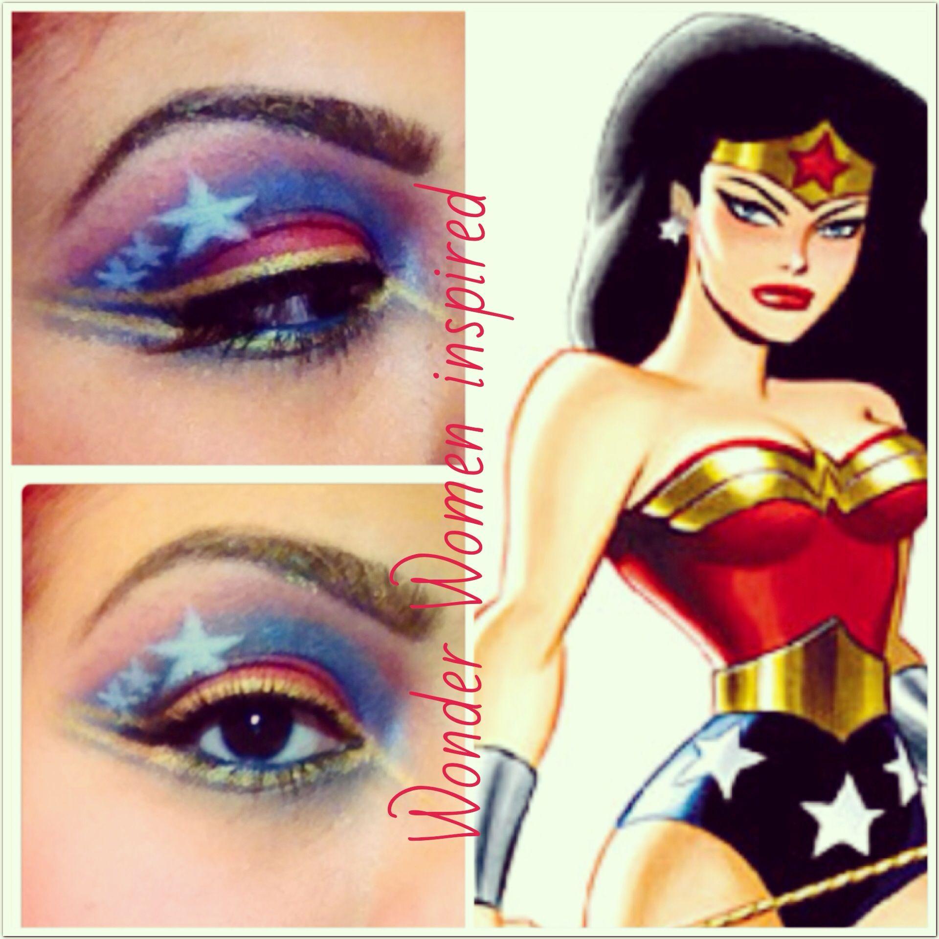 Wonder Women Eye Makeup Eye Makeup Makeup Makeup At Home