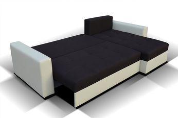 Meuble De Salon Canape Canape D Angle Noir Et Blanc Sofamobili Canape Angle Convertible Canape Angle Canape Angle Noir