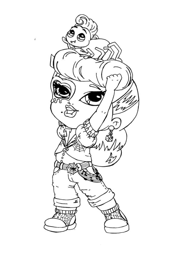 Little Monster High Operetta Coloring Page Monster High