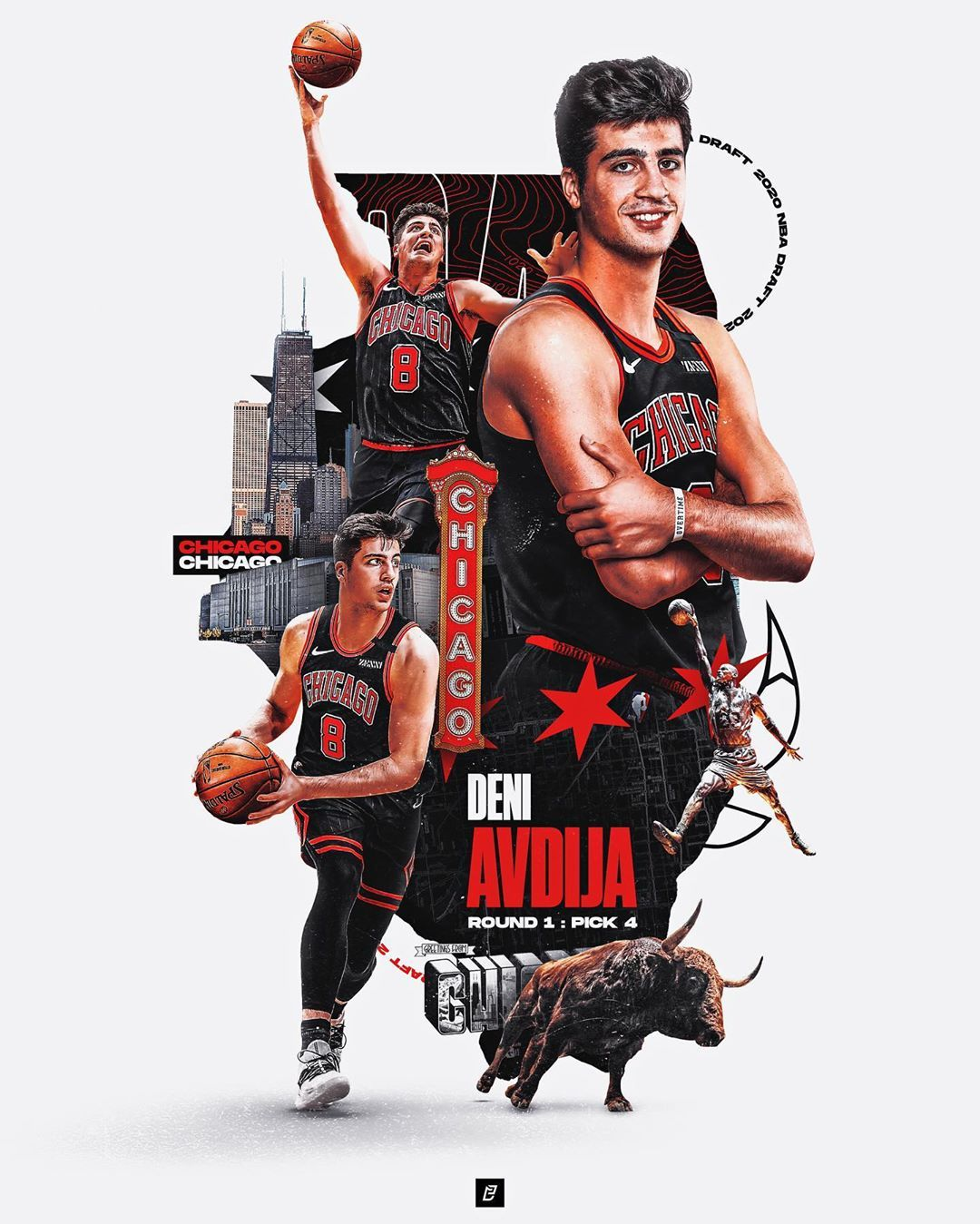 Enrique Castellano On Instagram With The Fourth Pick Of The 2020 Nba Draft The Chicago Bulls Are Exp Sports Design Ideas Chicago Bulls Sports Graphic Design