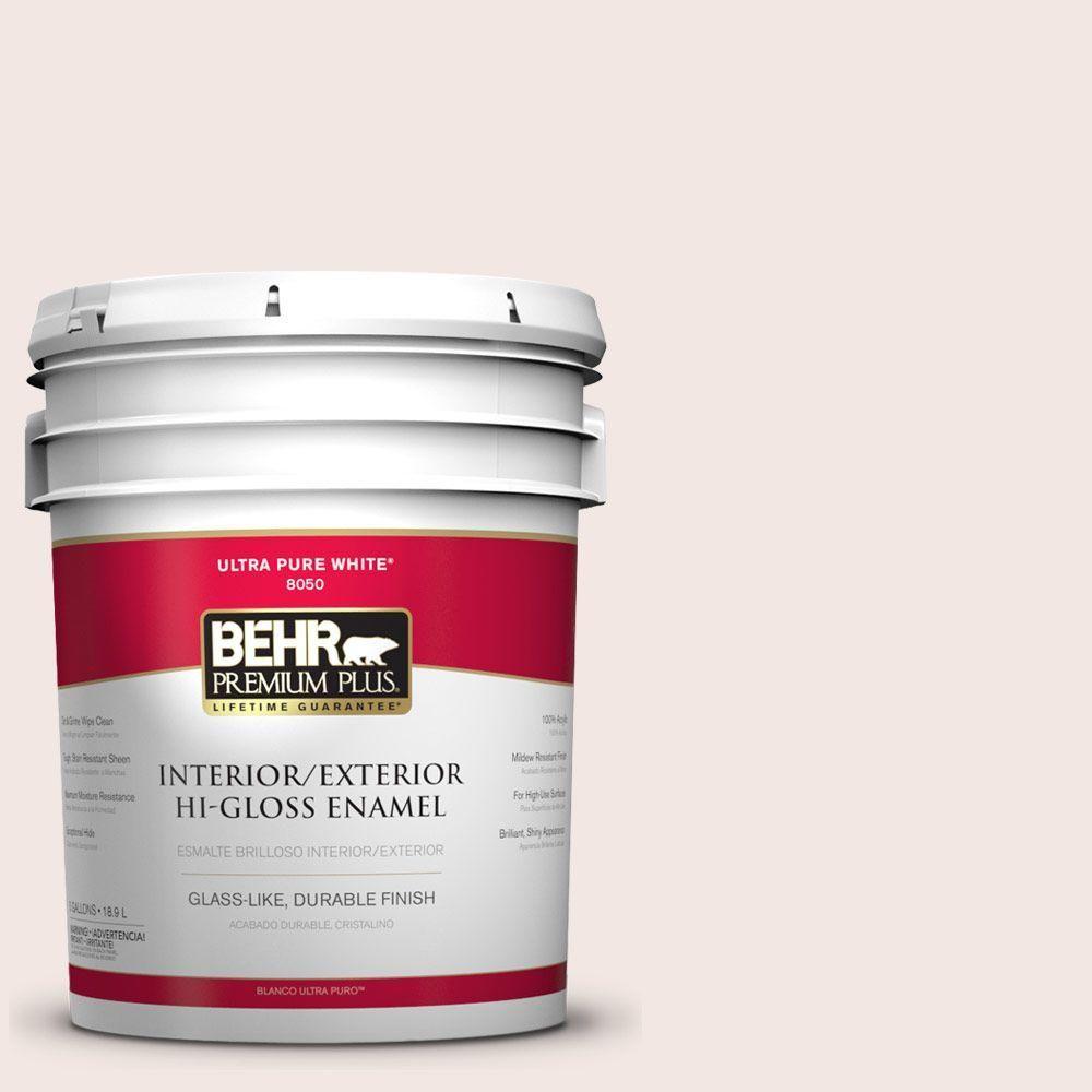 BEHR Premium Plus 5-gal. #770A-1 Quartz White Hi-Gloss Enamel Interior/Exterior Paint