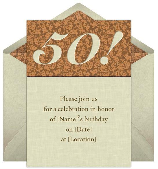 50th Birthday Invitation Inviti di compleanno, 50esimo - invitations samples for birthday