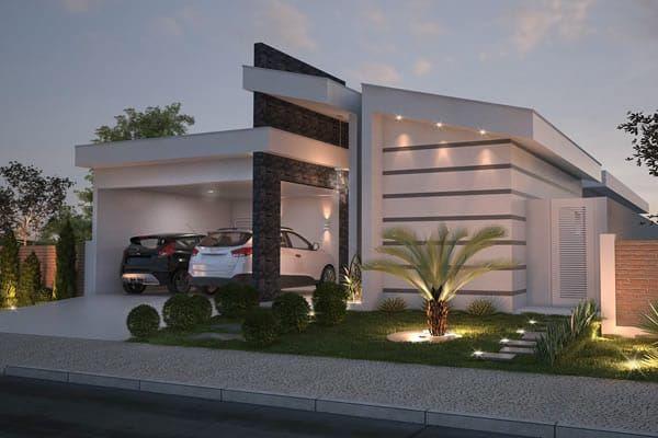 Casa Planta Baja Con Espacio Gourmet Fachadas De Casas Contemporaneas Casas Modernas Fachadas De Casas Modernas