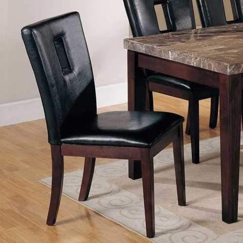 Danville Side Chair Set Of 2 Black Amp Brown Side