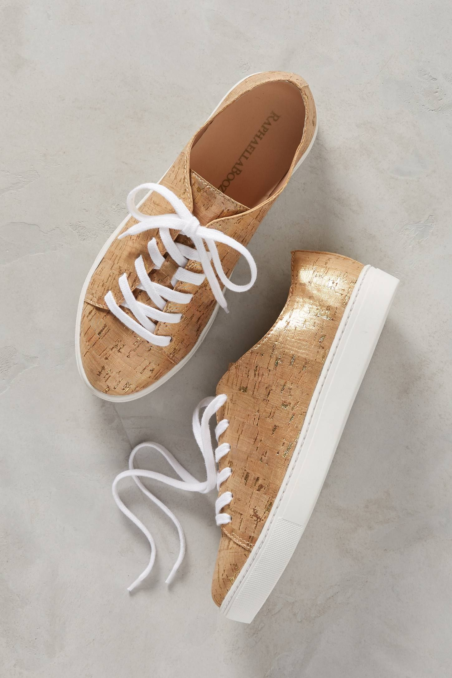5ba7ac48d7f Shop the Raphaella Booz Metallic Cork Sneakers and more Anthropologie at  Anthropologie today. Read customer reviews