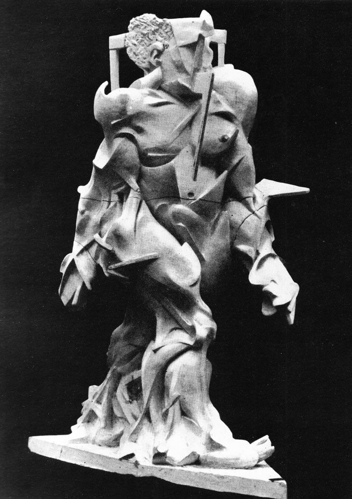 Umberto Boccioni 1913 Synthese Du Dynamisme Humain Synthesis Of Human Dynamism Sculpture Destroyed Umberto Boccioni Futurism Art Sculpture