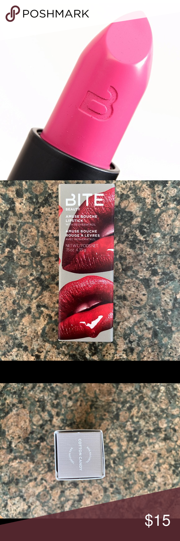 Photo of NIB Bite Beauty Cotton Candy Amuse Bouche Lipstick Fabulous color from an incred…