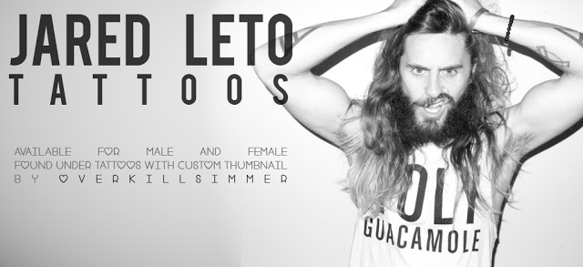 Sims 4 CC's - The Best: Jared Leto Tattoos by Overkillsimmer