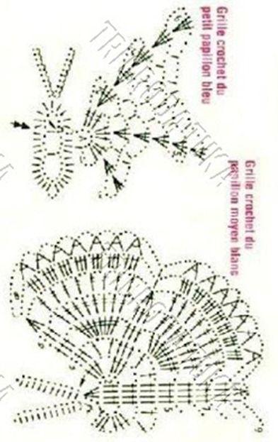 Schmetterling häkeln - crochet | Häkeln Schmetterling crochet ...