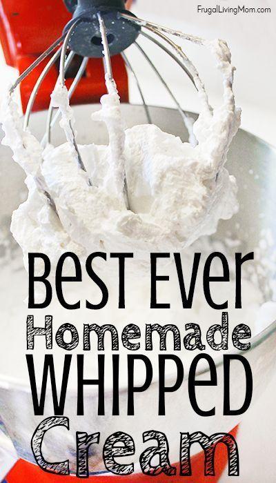 The Easiest Homemade Whipped Cream - Frugal Living Mom