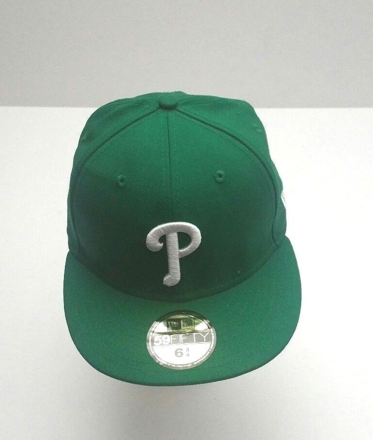 online retailer e64d3 1ff61 New Era Philadelphia Phillies 59Fifty Kelly White MLB Team Fitted Hat Size  6 3 4  NewEra  PhiladelphiaPhillies