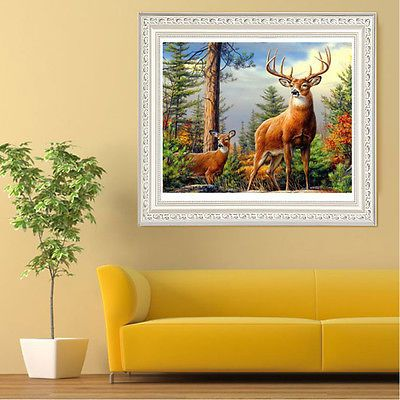 5D DIY Diamond Sika Deer Embroidery Painting Cross Stitch Craft Full Diamond