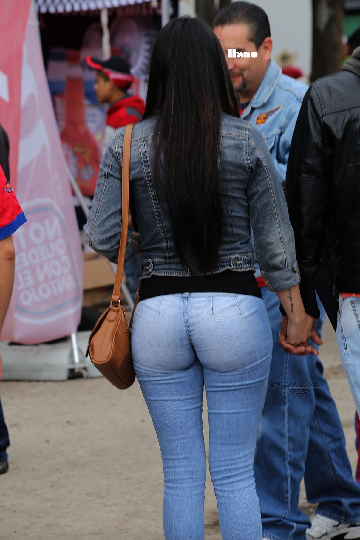 Sexy milf in jeans vpl