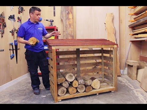 How To Build A Wood Log Store   YouTube