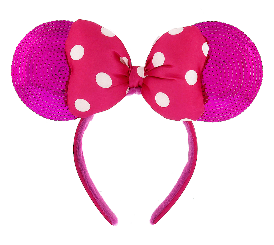 c081acd143a1e0 Pink Minnie Mouse Ears Headband with Bow | Products | Disney minnie ...