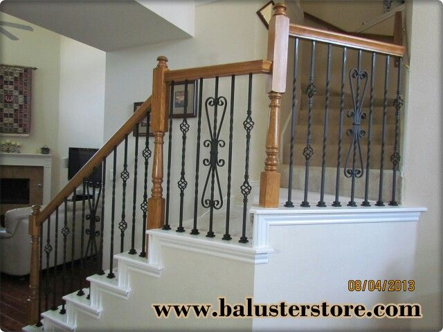 Iron Stair Parts, Iron Balusters, Stair Railing, Iron Stair Spindles, Home  Improvement