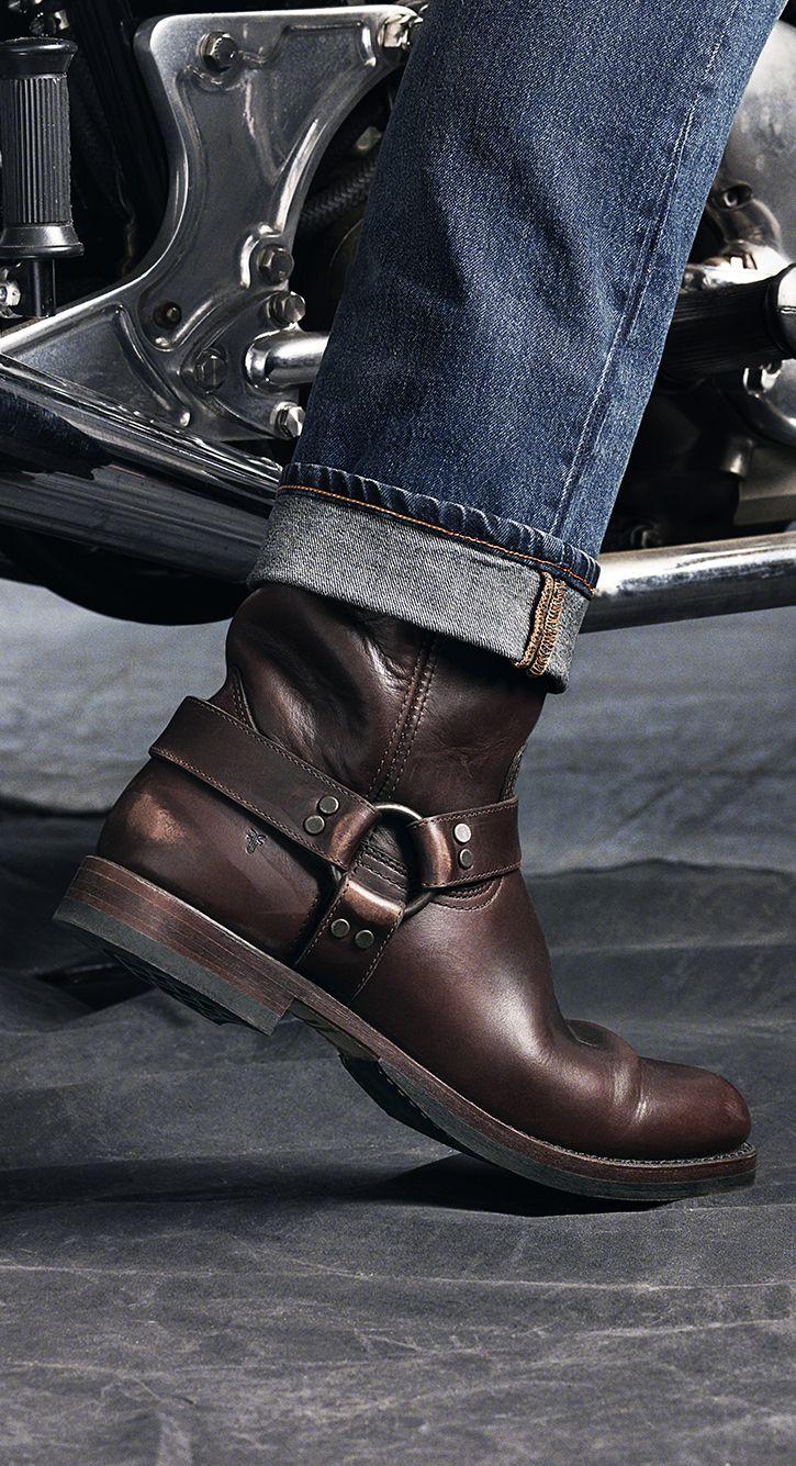 John Addison Harness Engineer Boots Men Mens Boots Fashion