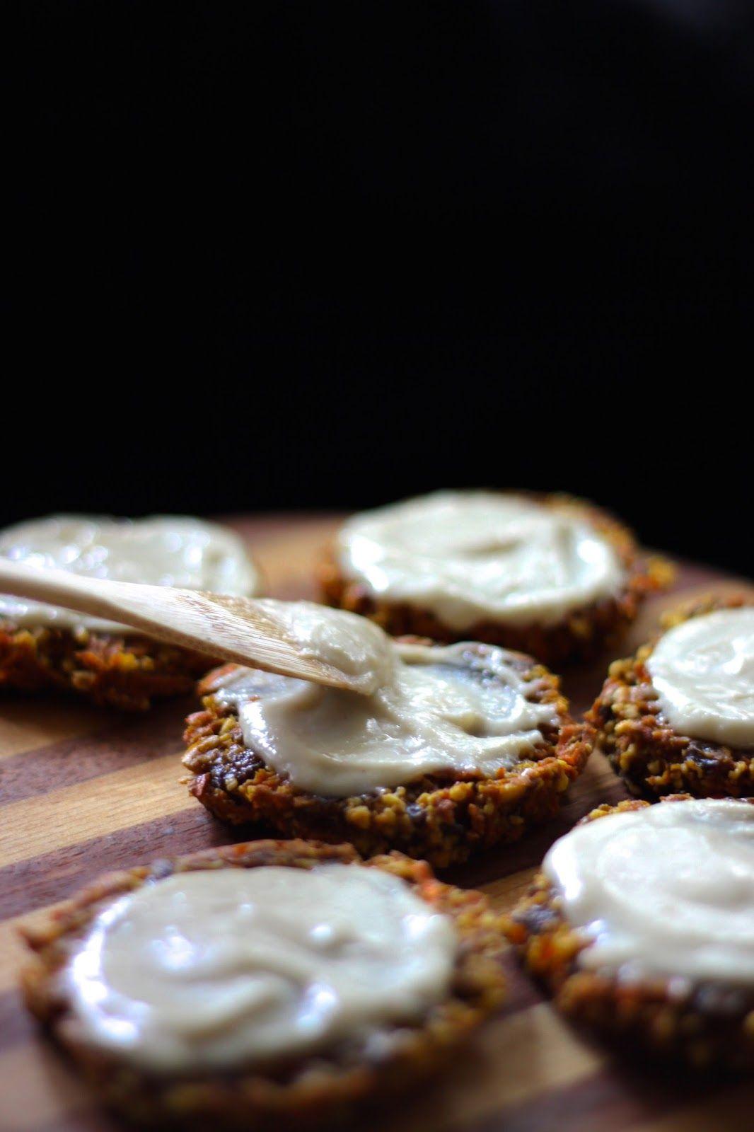 This Rawsome Vegan Life: carrot cake cookies with lemon cream frosting.