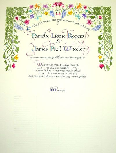Like The Celtic Knot Aspect  Wedding Certificate