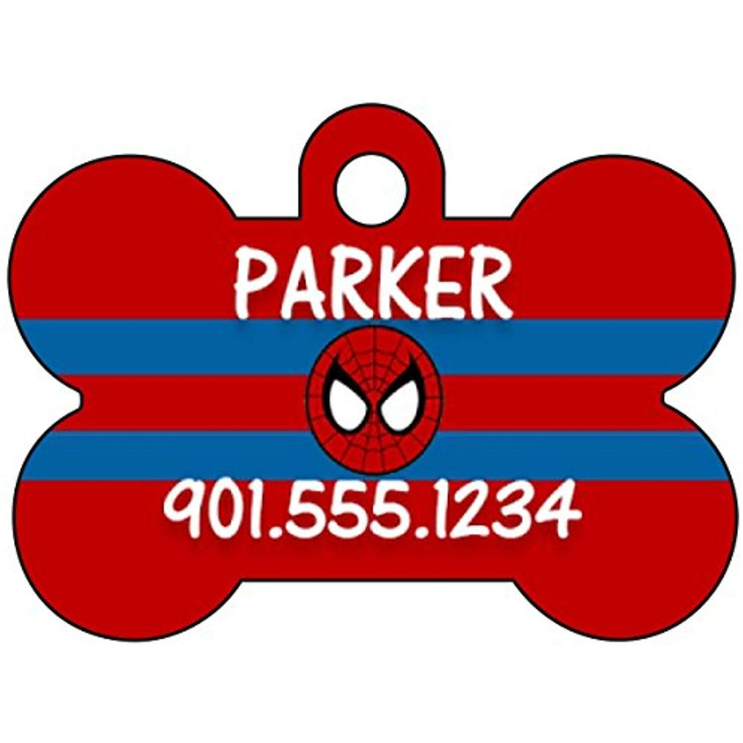 uDesignUSA Halloween Themed Pet Id Tag for Dogs /& Cats Personalized w//Name /& Number