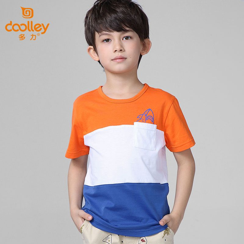 DOOLLEY Boy Fashion Striped T-shirt Children Summer Clothing Casual Cotton Short Sleeve Tops Tees Size 120-175 cm #Affiliate