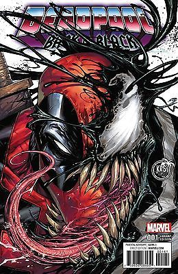 #Deadpool #Fan #Art. (DEADPOOL BACK IN BLACK #1-of-5 COLOR VARIANT Cover) By: TYLER KIRKMAN. (THE * 5 * STÅR * ÅWARD * OF: * AW YEAH, IT'S MAJOR ÅWESOMENESS!!!™)[THANK U 4 PINNING!!!<·><]<©>ÅÅÅ+(OB4E)