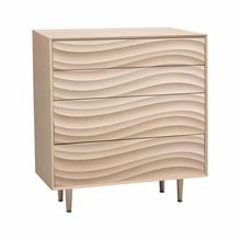 Wave 4-Drawer Dresser with Wood Legs