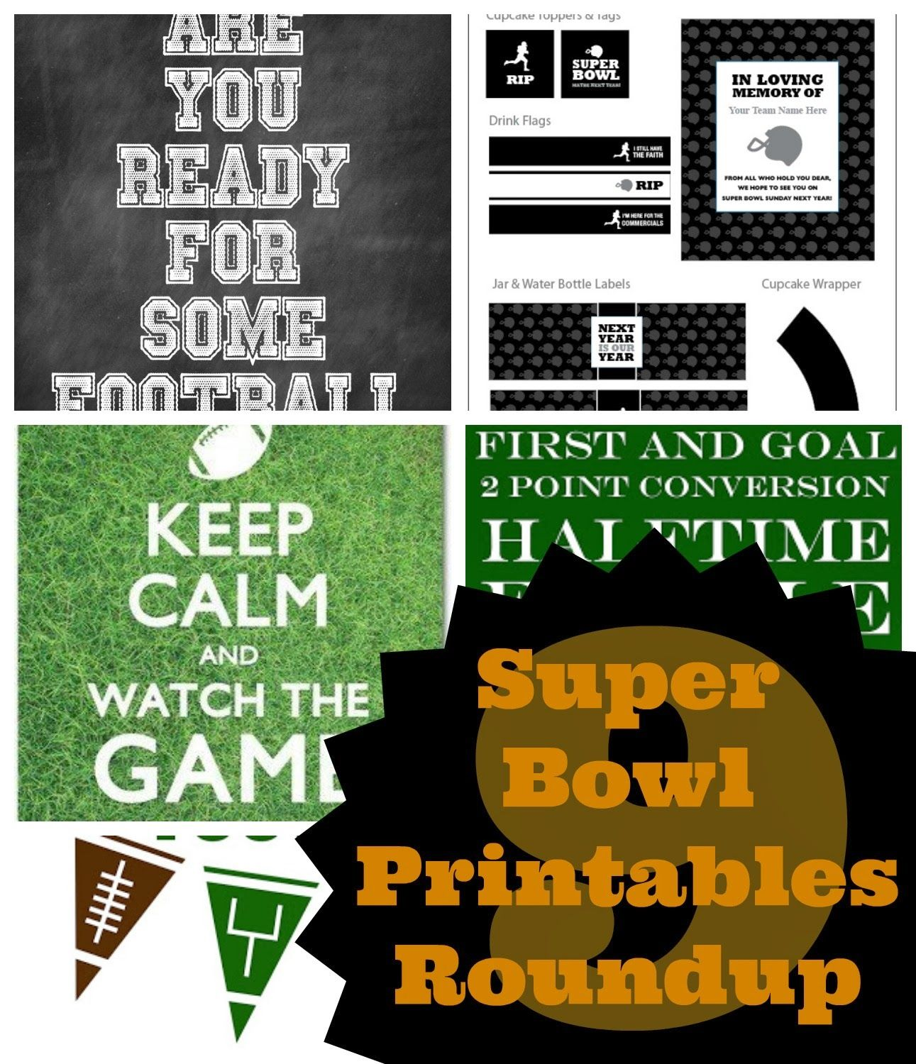 Are You Ready For Some Football? Game Day Printables Round