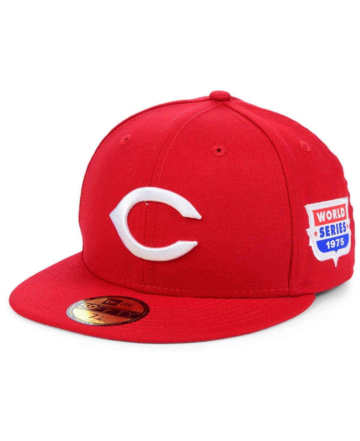 New Era Cincinnati Reds World Series Patch 59fifty Cap Reviews Sports Fan Shop By Lids Men Macy S In 2021 Cincinnati Reds New Era Red