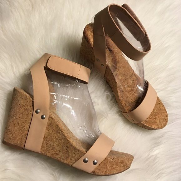 80543bc9363 Lucky Brand Nude Leather Wedge Sandals Brand-new Lucky Brand nude leather  platform wedge sandals in size 9 1 2. Heel measures 3 3 4 heel with 1 1 4  platform ...
