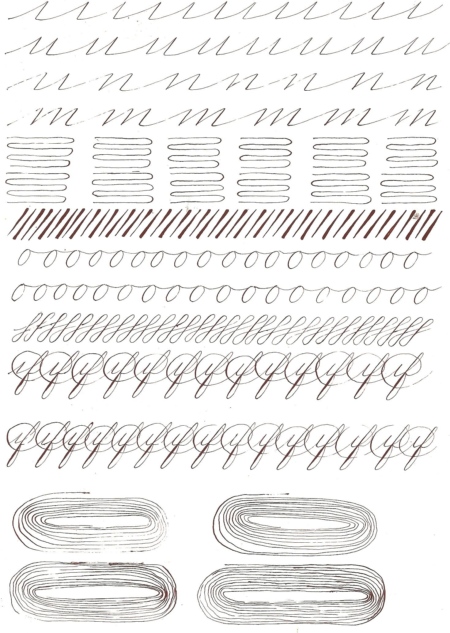 worksheet Spencerian Penmanship Worksheets first lessons in penmanship google search calligraphypenmanship search