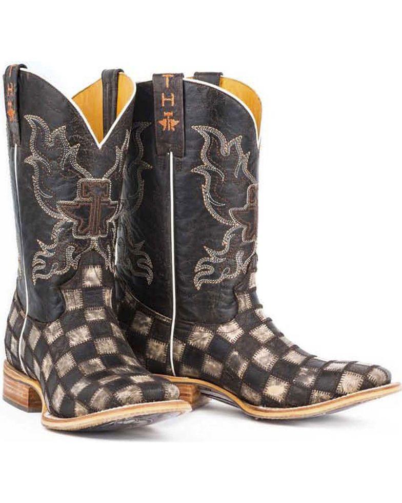 dd5562ba5f6 Tin Haul Men's Gun Metal Check Western Boots | Accesories | Cowboy ...