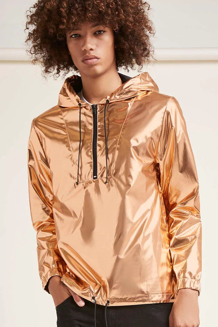 save off e27ea f879d Product Name:Metallic Drawstring Anorak, Category:mens-main ...
