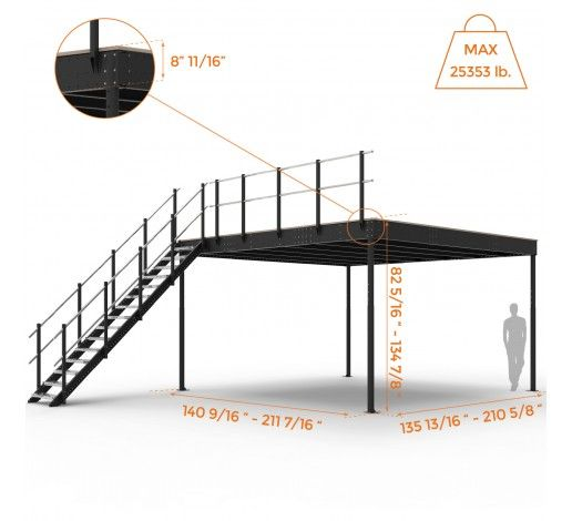 Tl 30 Mezzanine With L Long Straight Stairs With Images Garage Plans With Loft Loft House House Floor Plans