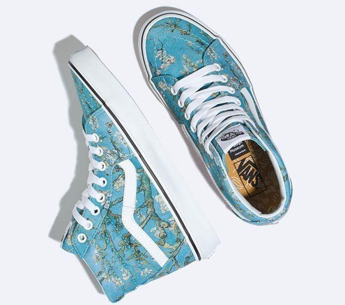 76d0bbdea47 Details about Vans X Vincent Van Gogh Almond Blossom SK8-HI size 9.5 ...