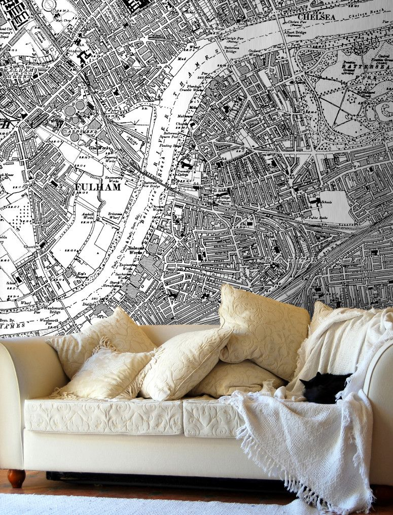 London Wallpaper Bedroom Map Wallpaper Vintage Ordnance Survey London Victorian Street
